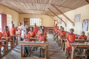 Salle de classe de l'école d'alphabétisation